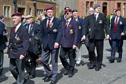 Veterans at Veterans Memorial Monument, Glasgow 2015