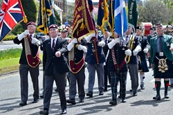 Veterans march in Great Western Road, Glasgow 2015