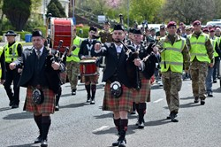 Milngavie Pipe Band - Victory in Europe, Glasgow 2015