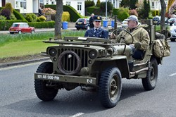 Vintage Jeep - Victory in Europe Parade, Glasgow 2015