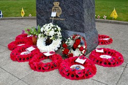 Wreaths - Veterans Memorial Monument, Glasgow 2015