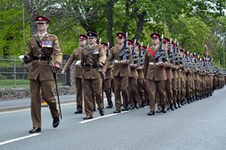Duke of Lancaster's Regiment Freedom Parade - Maryport 2015