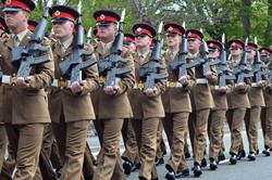 Soldiers of Duke of Lancaster's Regiment - Maryport 2015