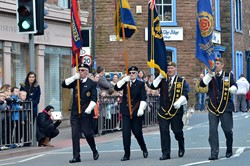 Veterans Duke of Lancaster's Regiment Freedom Parade - Maryport 2015