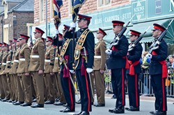 Colour Party Duke of Lancaster's Regiment Maryport 2015