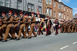Colour Party Duke of Lancaster's Regiment Freedom Parade - Maryport 2015