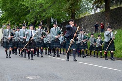 Queen Victoria School Pipe Band - Armed Forces Day 2015 Stirling