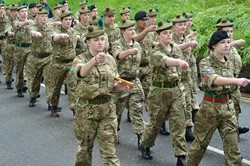 Army Cadets Parade in Stirling Armed Forces Day 2015