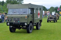 Lap of Honour Military Vehicles - Armed Forces Day 2015 Stirling