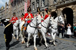 Mounted Troop Greys Royal Scots Dragoon Guards Edinburgh 2015
