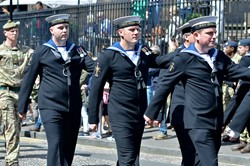 Royal Navy HMS Queen Elizabeth - Armed Forces Day 2015 Edinburgh