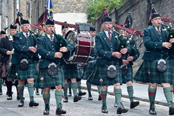 Royal Scots Association Pipe Band - Armed Forces Day Edinburgh 2015