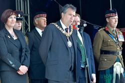 Lord Provost Donald Wilson - Armed Forces Day 2015 Edinburgh