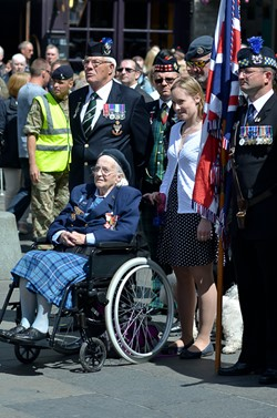 Veterans in the Grassmarket - Armed Forces Day 2015 Edinburgh