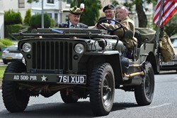 Vintage Military Vehicle - Victory in Japan, Knightswood, Glasgow 2015