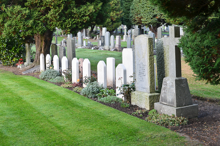 Polish war graves in Balgay cemetery, Dundee.