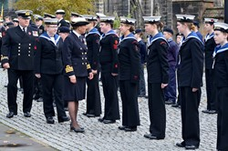 Inspection of Sea Cadets - Seafarers Service Glasgow Cathedral 2015