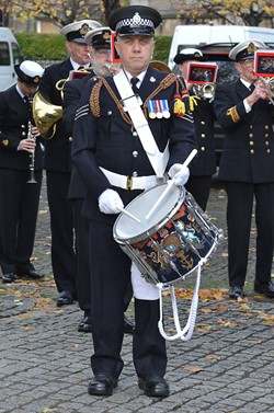 Drummer HMS Neptune Band - Seafarers Service Glasgow Cathedral 2015