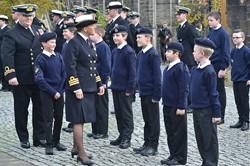 Sea Cadets at Glasgow Cathedral 2015