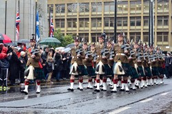 52nd Lowland (6 Scots) Royal Regiment of Scotland - Remembrance Sunday Glasgow 2015