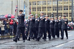 HMS DALRIADA Naval Reserve - Remembrance Sunday Glasgow 2015