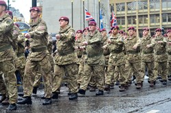 Parachute Regiment - Remembrance Sunday Glasgow 2015