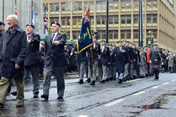City of Glasgow Royal Marines Veterans - Remembrance Sunday Glasgow 2015