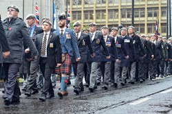Royal Scots Dragoon Guards Veterans - Remembrance Sunday Glasgow 2015