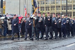Royal Highland Fusiliers Veterans Association - Remembrance Sunday Glasgow 2015