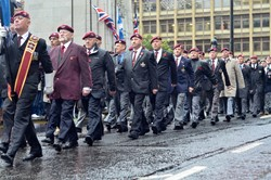Parachute Regiment Veterans - Remembrance Sunday Glasgow 2015