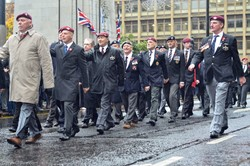 Airborne Veterans - Remembrance Sunday Glasgow 2015