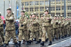 Army Cadets George Square Glasgow Remembrance Sunday 2015