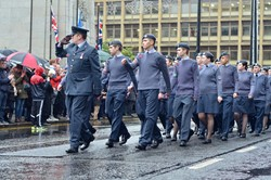 Air Cadets - Remembrance Sunday Glasgow 2015