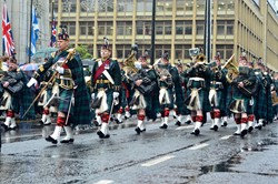 Lowland Band, Royal Regiment of Scotland - Remembrance Sunday Glasgow 2015