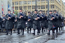 Scottish Fire and Rescue Pipe Band - Remembrance Sunday Glasgow 2015