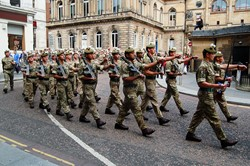 Royal Highland Fusiliers Homecoming Parade Glasgow 2016