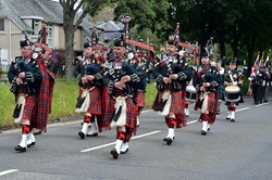 7 Scots Pipes and Drums - Stirling Military Show 2016