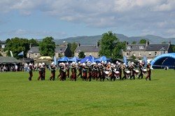 Band of the Royal Marines Beating of the Retreat Stirling Military Show 2016