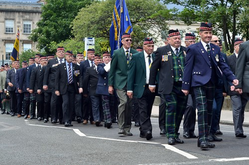 Veterans on Parade - Glasgow Armed Forces Day 2016