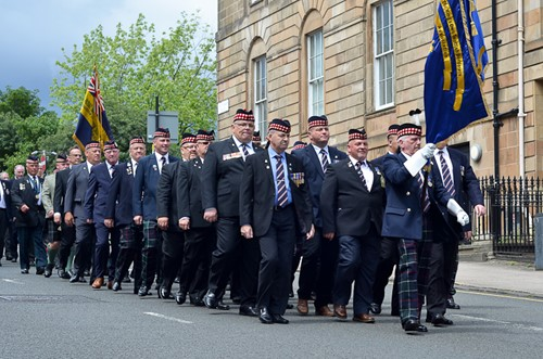 Kings Own Scottish Borderers Association - Glasgow Armed Forces Day 2016