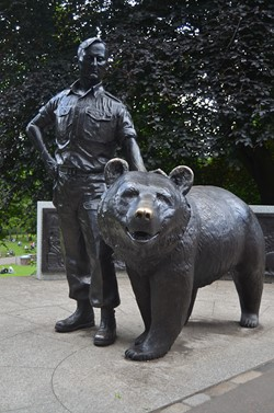 Wojtek the Bear Statue - Princes Street Gardens, Edinburgh