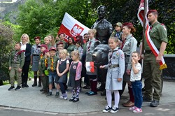 Wojtek Bear Memorial and Polish Scouts Edinburgh 2016