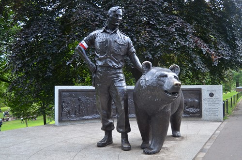 Wojtek the Bear Memorial - Princes Street Gardens, Edinburgh