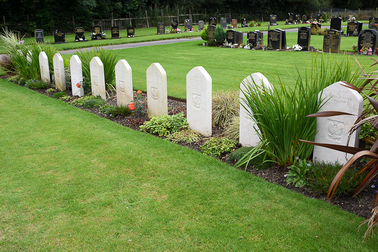 Polish war graves in Auchinleck cemetery, Ayrshire.