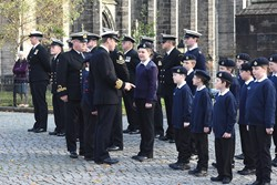 Sea Cadets Inspection - Glasgow Cathedral 2016