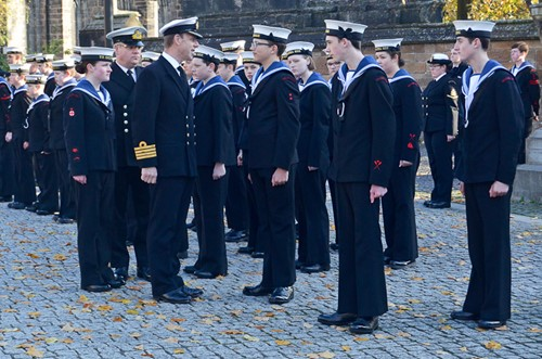 Sea Cadets Inspection - Chris Smith Royal Navy Seafarers Service Glasgow 2016