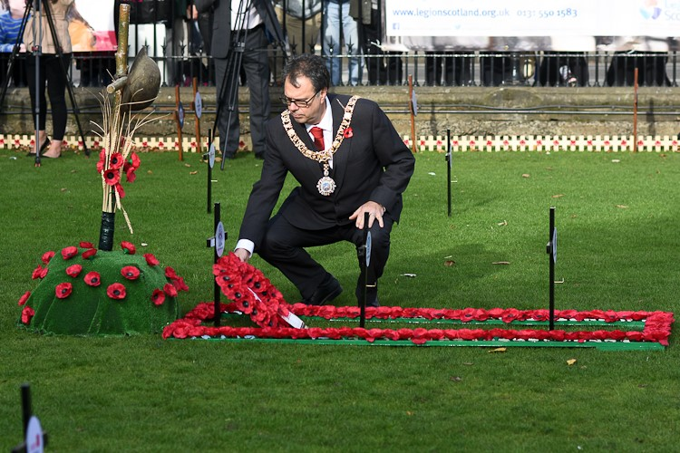 Rt Hon Donald Wilson Lord Provost - Edinburgh Garden of Remembrance 2016