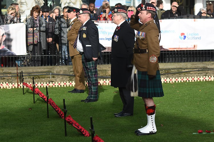 Wreath Laying Garden of Remembrance Edinburgh 2016