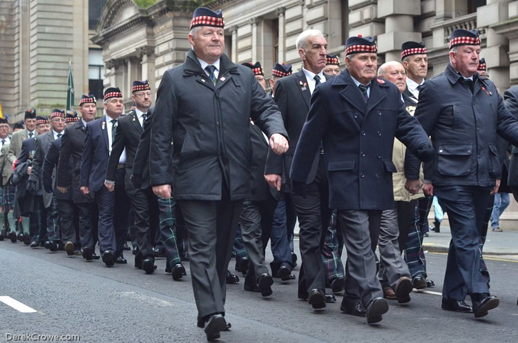 Royal Highland Fusiliers - Remembrance Sunday Glasgow 2016