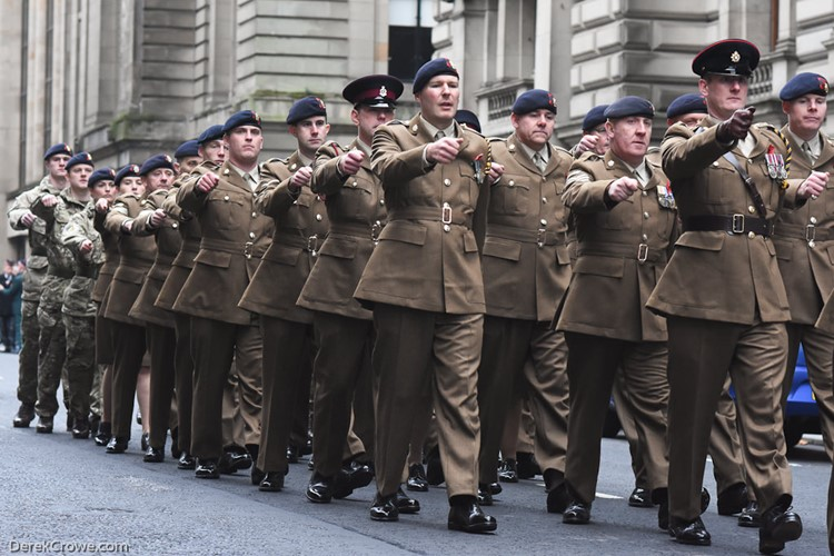 British Army Soldiers - Remembrance Sunday Glasgow 2016